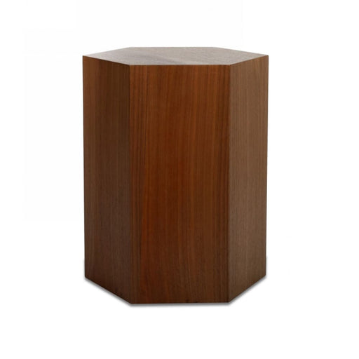 Novelle Hexagonal Large Accent Table Walnut