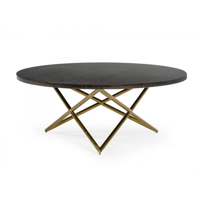 Novia Glam Black and Gold Marble Coffee Table
