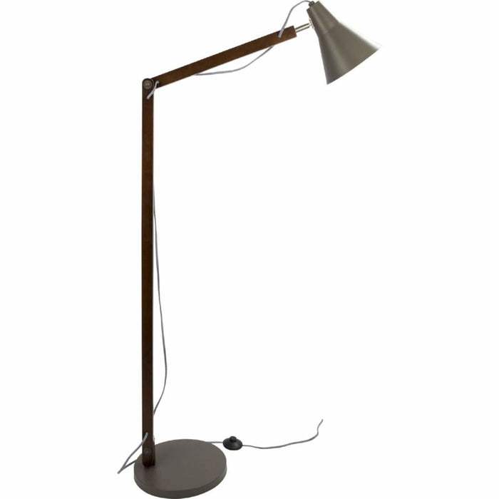 Origami Floor Lamp Walnut Grey