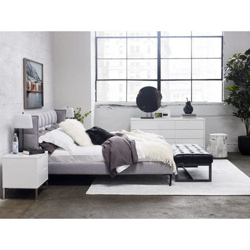 Ostalo King Bed Grey