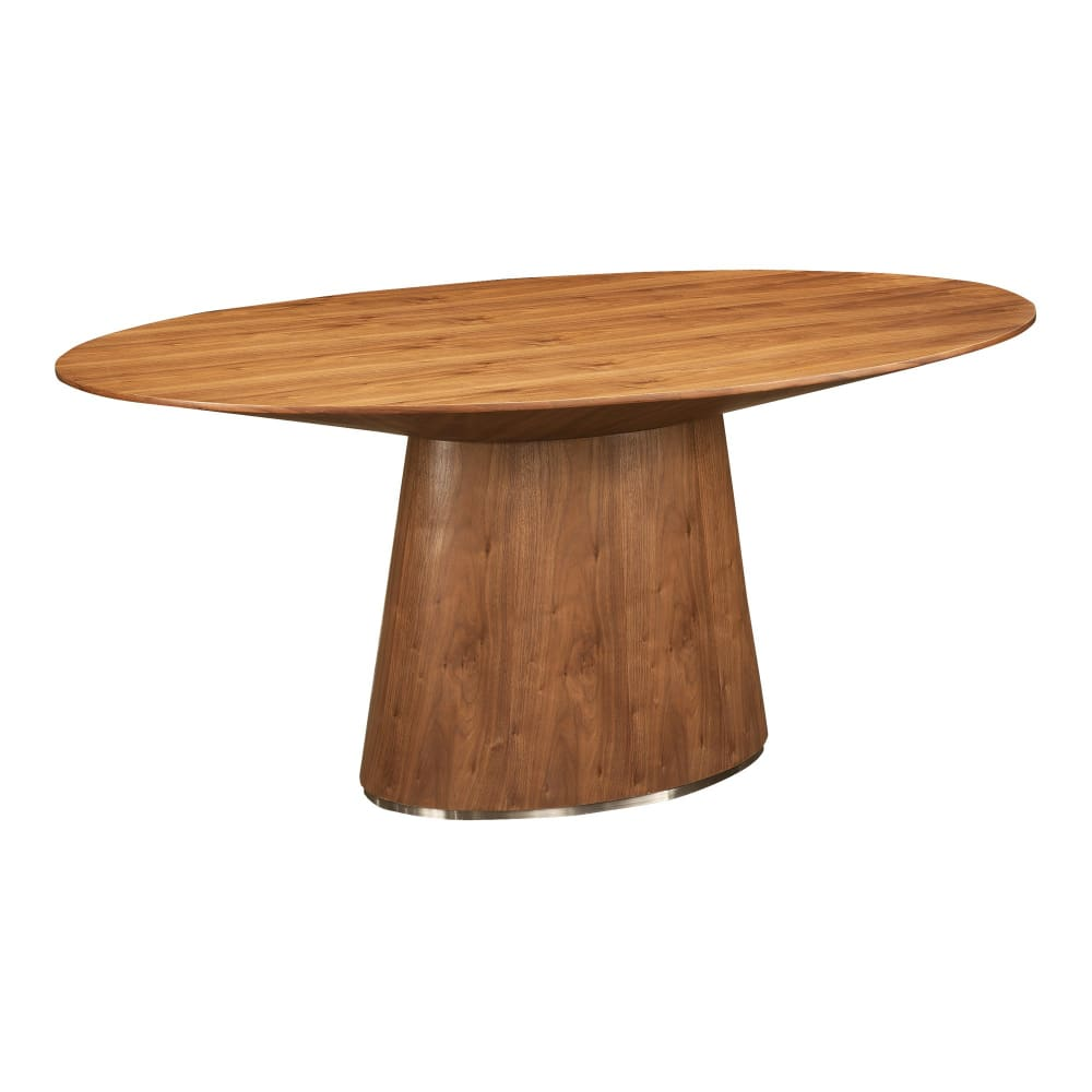 OTAGO OVAL DINING TABLE WALNUT