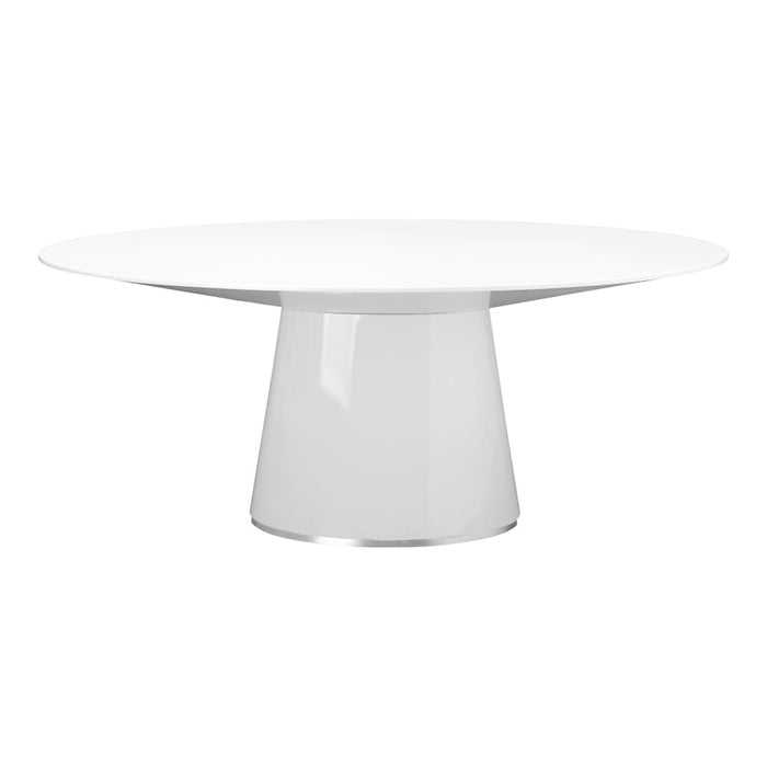 OTAGO OVAL DINING TABLE WHITE