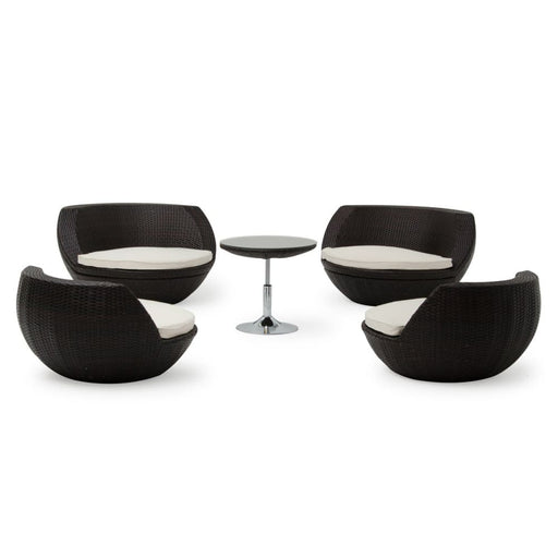 Ovo Outdoor Brown Seating Set