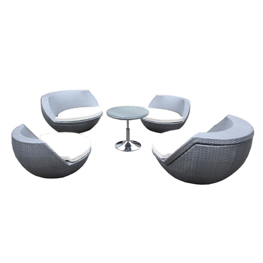 Ovo Outdoor Silver Seating Set