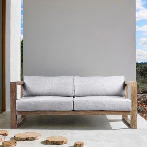 Paradise Outdoor Light Eucalyptus Wood Sofa