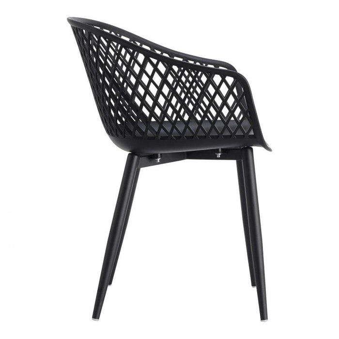PIAZZA OUTDOOR CHAIR BLACK-SET OF TWO