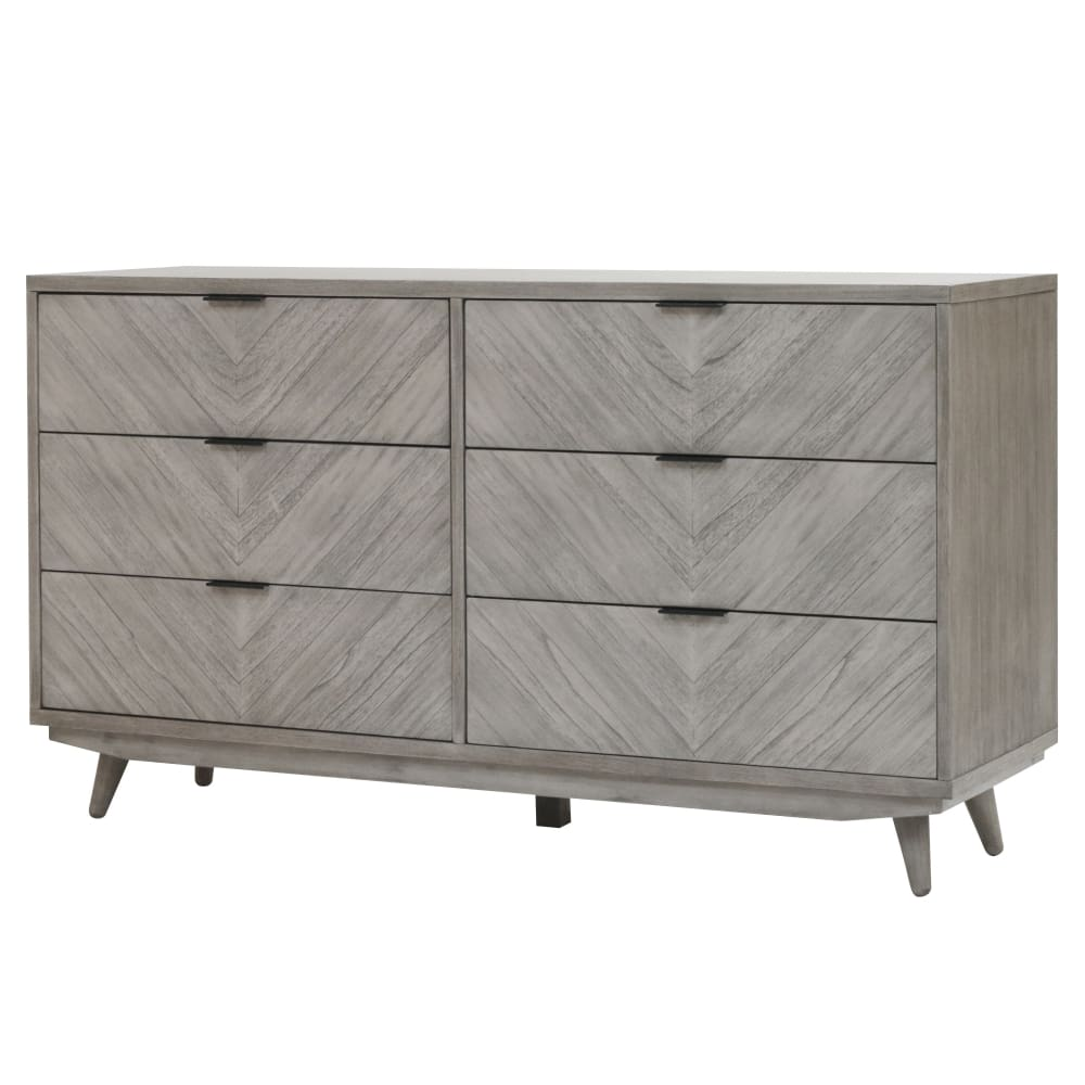 Piero Chevron Dresser-Gray