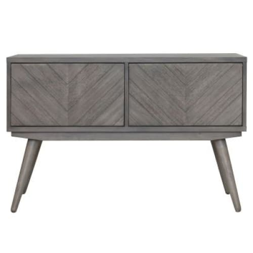 Piero Chevron High Media Stand Weathered Gray