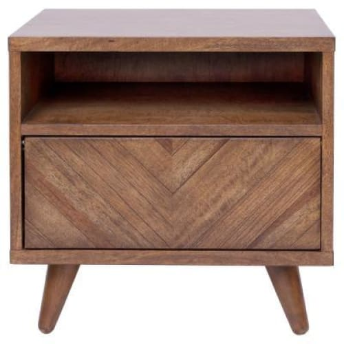 Piero Chevron Night Stand/SideTable Monterey