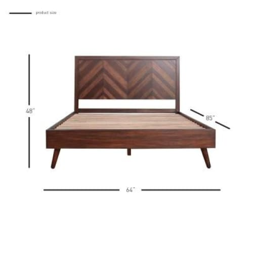 Piero Chevron Queen Bed Java