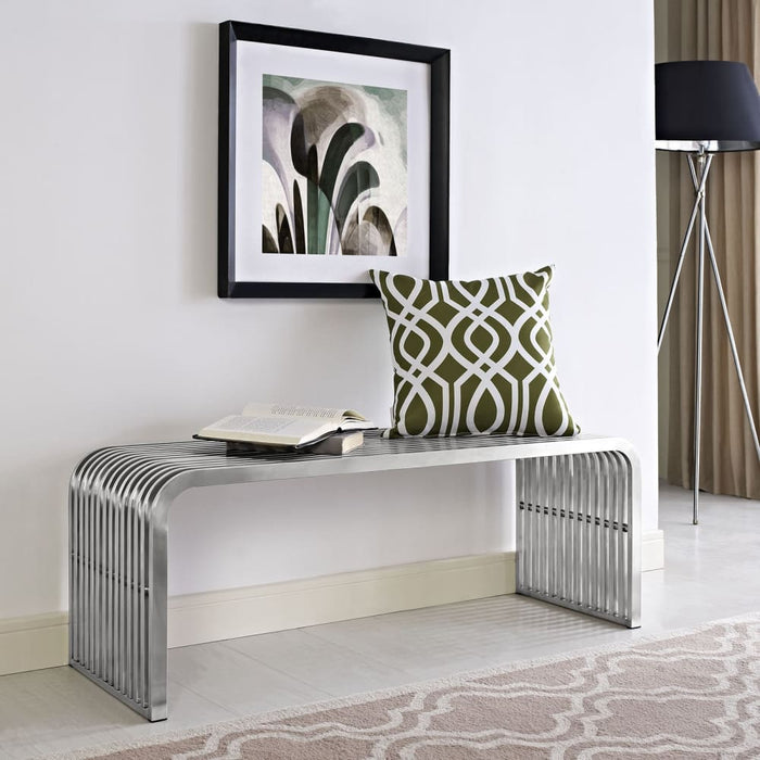 PIPE 47 STAINLESS STEEL BENCH