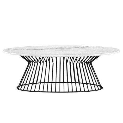 Platner Style Coffee Table Marble