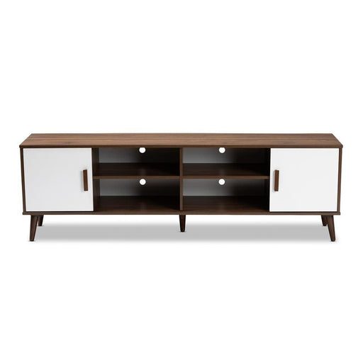Quincy Two Toned Mid Century TV Stand