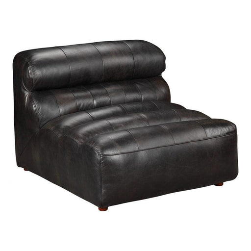RAMSAY LEATHER SLIPPER CHAIR BLACK