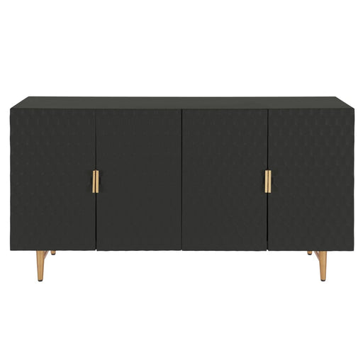 Reggie Geometric Sideboard 4 Doors-Black