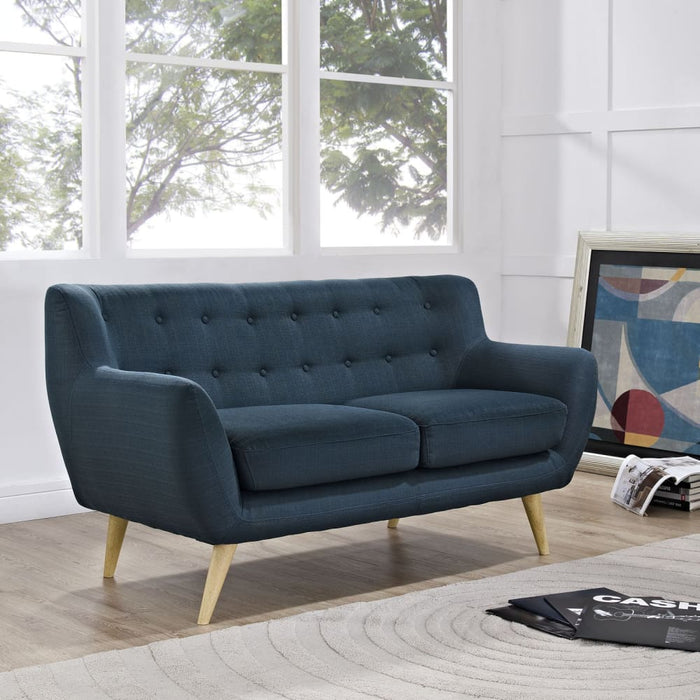 REMARK UPHOLSTERED FABRIC LOVESEAT