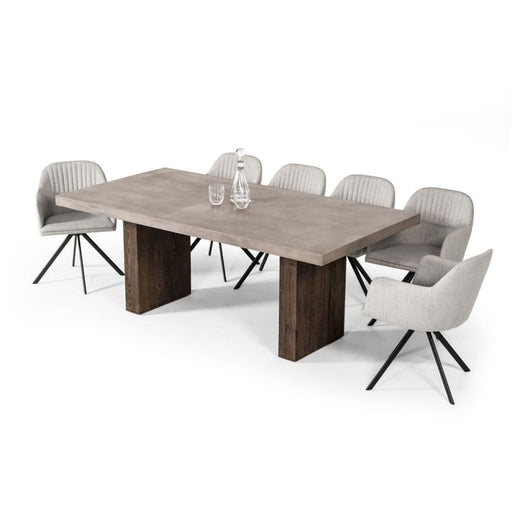 Rima Modern Concrete & Oak Dining Table