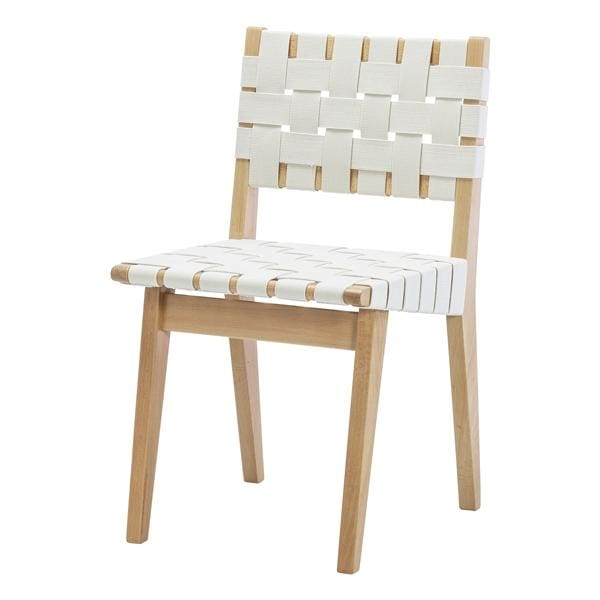 Risom Dining Chair White & Natural