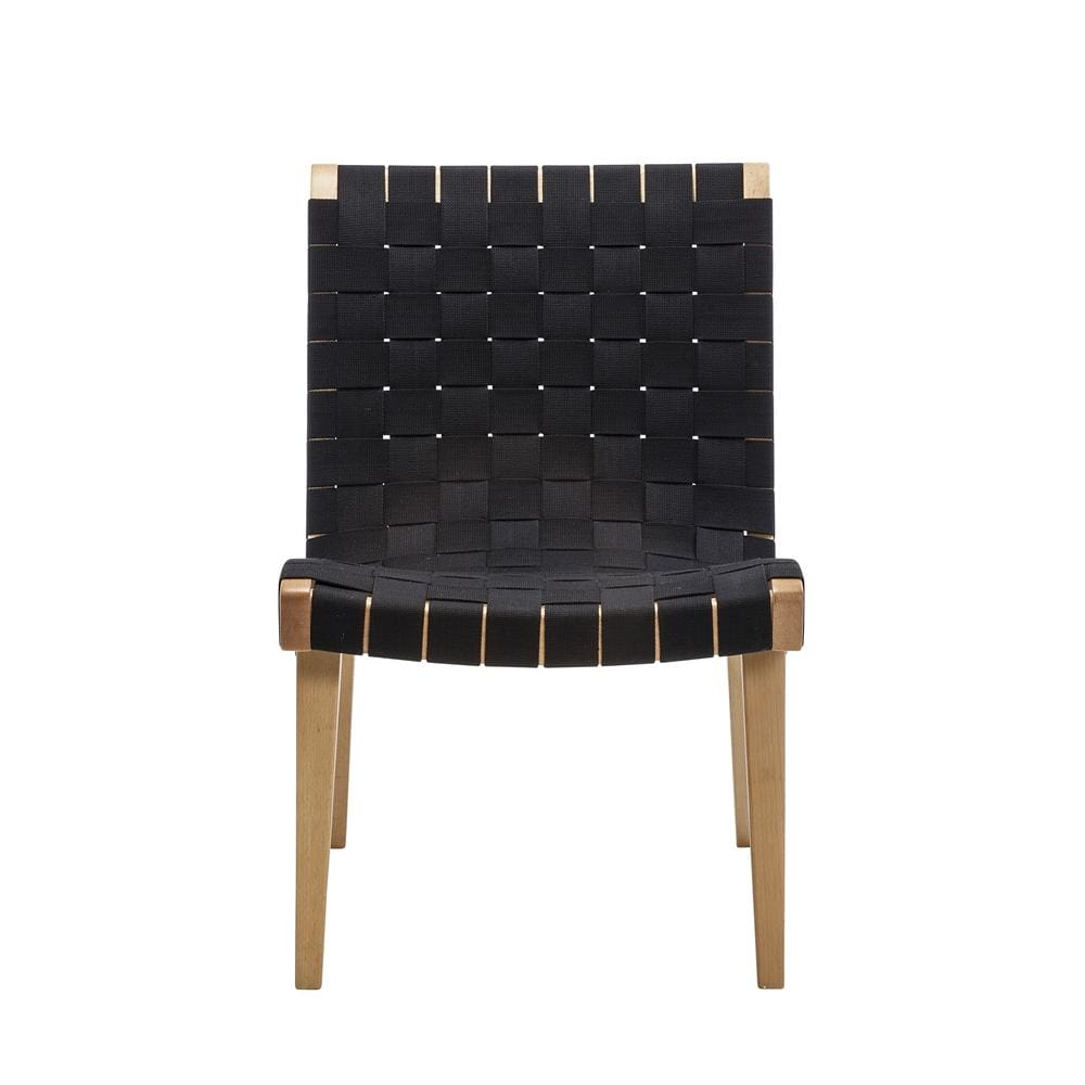 Risom Lounge Chair Black Natural