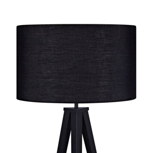 Roma Tripod Floor Lamp Black Shade