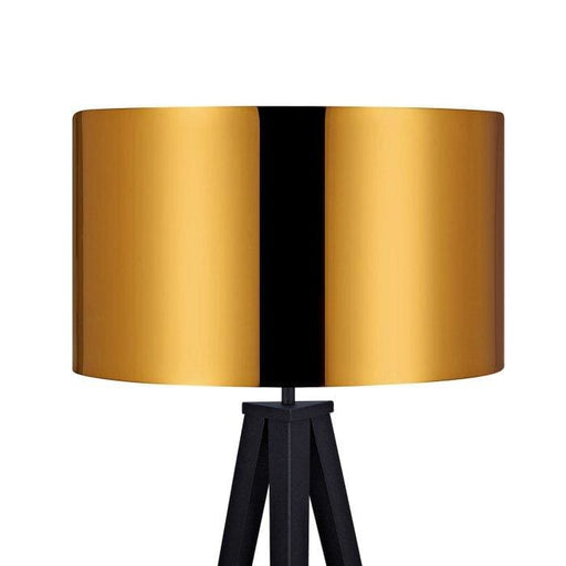 Roma Tripod Floor Lamp Gold Shade