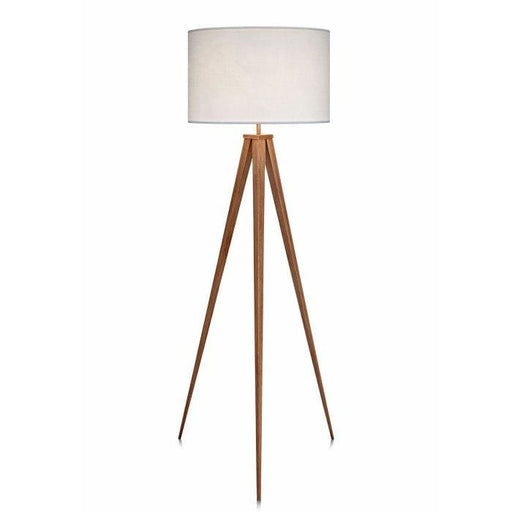 Roma Tripod Floor Lamp White Shade