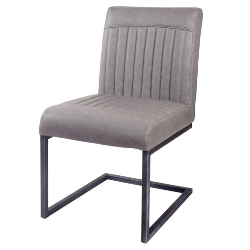 Ronan PU Leather Dining Chair-Gray Set of 2