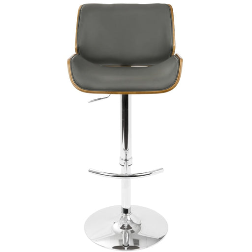Santo Mid Century Adjustable Bar Stool Walnut Grey