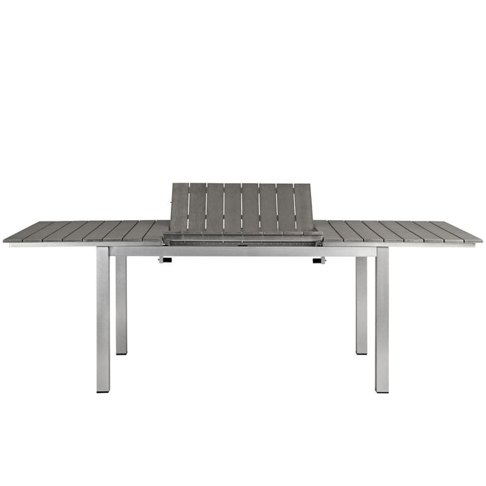SHORE OUTDOOR PATIO WOOD DINING TABLE