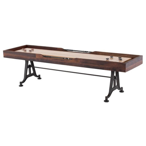 Shuffleboard Game Table II Burnt Umber