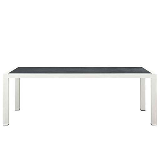 STANCE 90.5 OUTDOOR PATIO ALUMINUM DINING TABLE