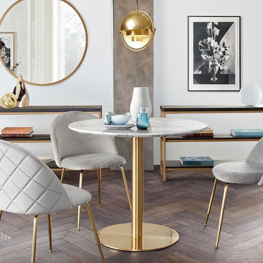 Stella 36 Round Bar Height Table Brushed Gold