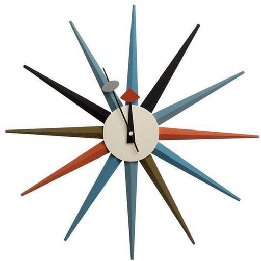 Sunburst Clock Multi Color
