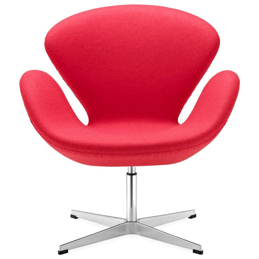 Swan Classic Chair Fabric Red