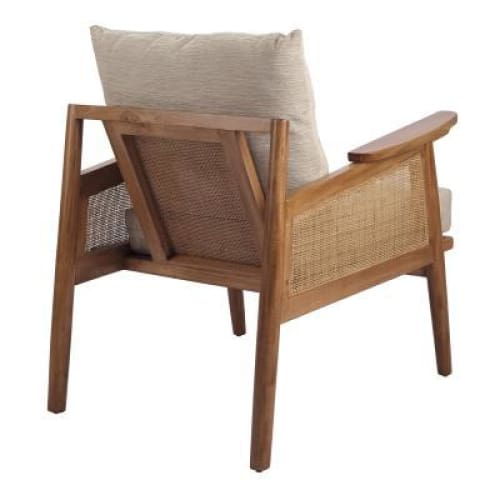 Teramo Rattan Accent Chair Mid Brown
