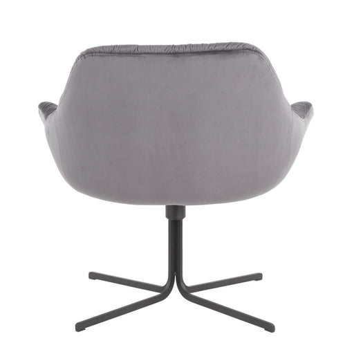 Thurston Lounge Chair Gray Velvet