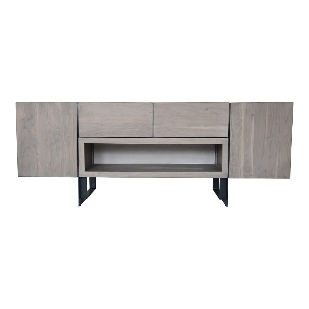 TIBURON MEDIA CABINET PALE GREY