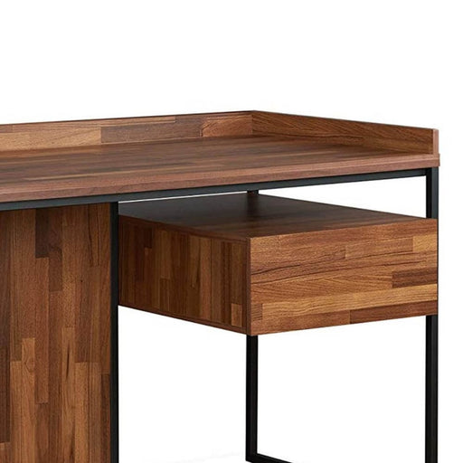 Traverse Wooden Top Desk With Rectangular Metal Frame