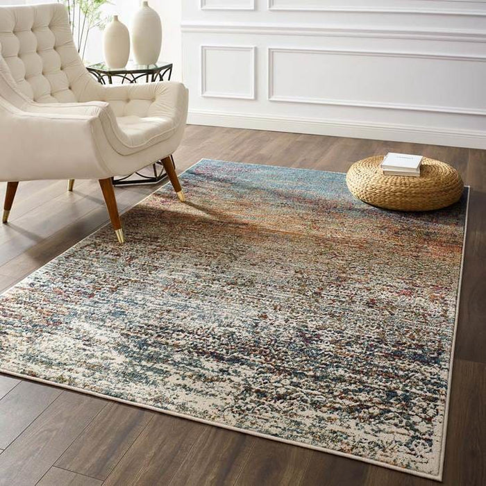 Tribute Jacinda Rustic Distressed Area Rug 8 x 10