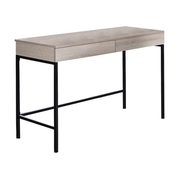 Tyler 2 Drawer Desk Washed White And Black