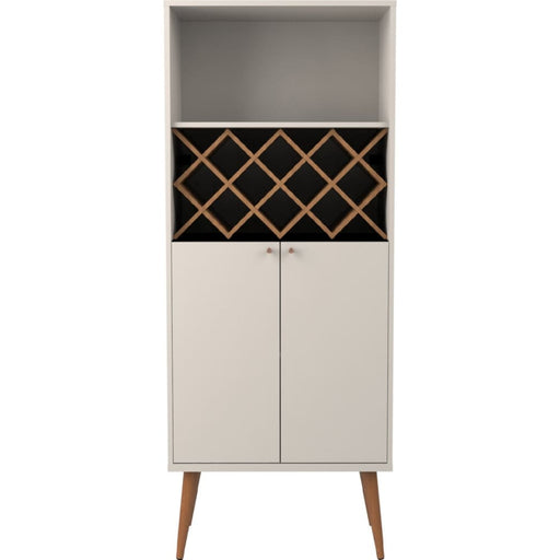 Utica Wine Rack Cabinet Off White Maple Cream