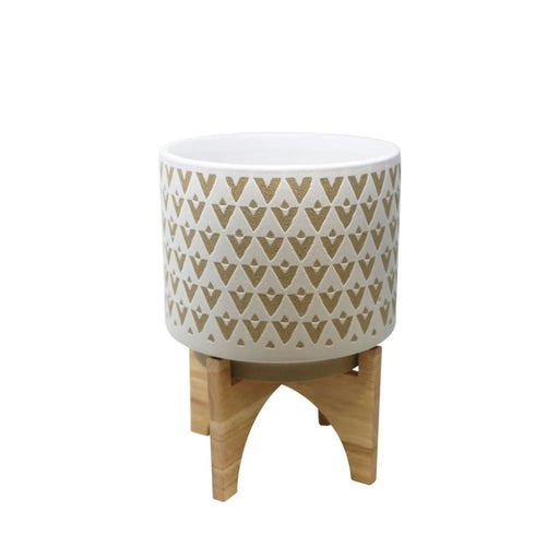Vadara Ceramic Planter With Stand