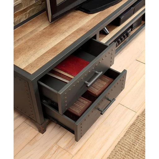 Vector Industrial 60 Wood and Metal TV Stand