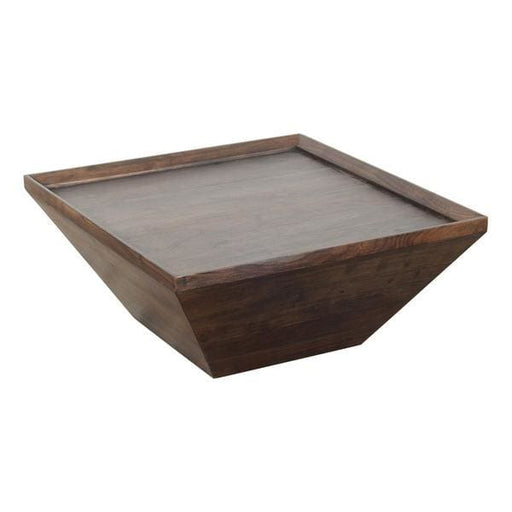 Vince 36 Inch Square Shape Acacia Wood Coffee Table
