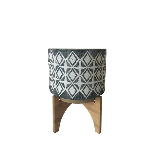 Vista Ceramic Planter With Stand, Small