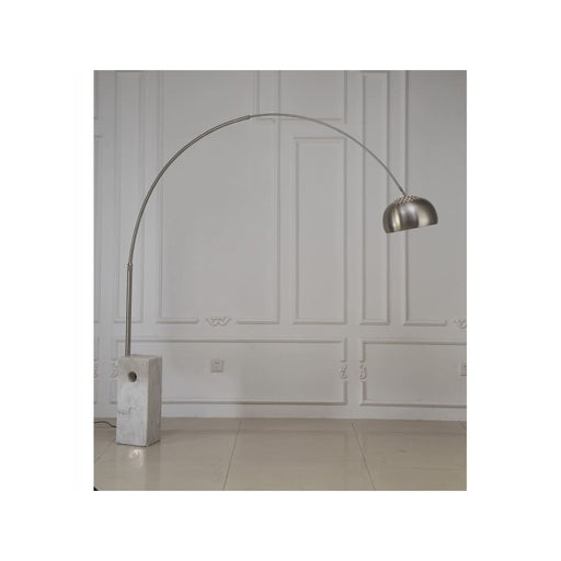 Weston Arc Floor Lamp White Marble
