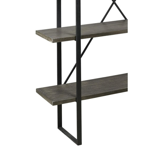 X Mark 4 Tier Rectangle Metal Frame Bookcase