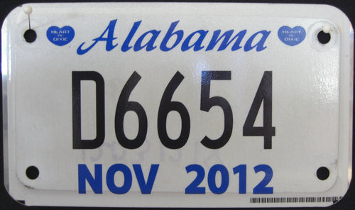 ALABAMA DEALER 2012 D6654