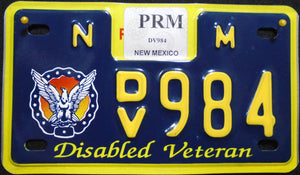 NEW MEXICO DISABLED VETERAN 984