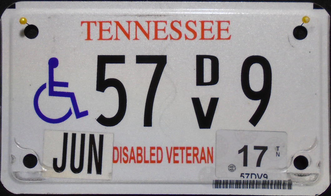 TENNESSEE DISABLED VETERAN 2017 57 9